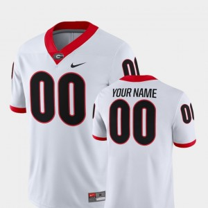 For Men's 2018 Game #00 UGA College Customized Jersey Football White