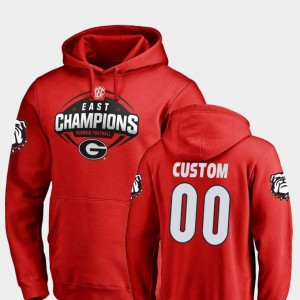 #00 2018 SEC East Division Champions Red University of Georgia College Customized Hoodies Football For Men's