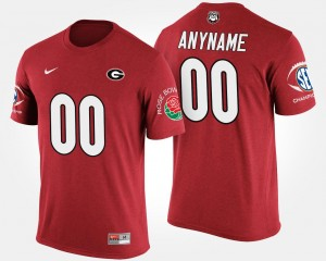 GA Bulldogs #00 For Men Bowl Game Southeastern Conference Rose Bowl Red College Custom T-Shirts