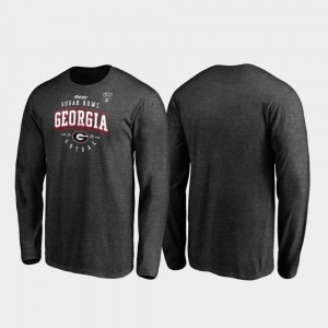 Heather Gray Tackle Long Sleeve For Men's College T-Shirt Georgia 2020 Sugar Bowl Bound