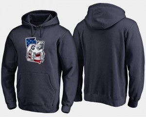 College Hoodie Big & Tall Banner State For Men UGA Navy