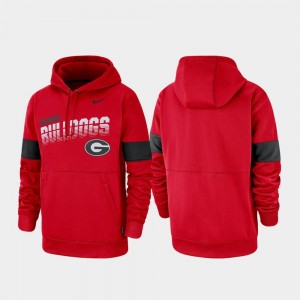 Georgia Bulldogs Red For Men's Pullover College Hoodie Performance