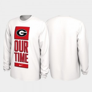 College T-Shirt Our Time Bench Legend 2020 March Madness For Men's White UGA Bulldogs