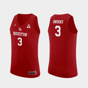 #3 Basketball Armoni Brooks College Jersey Red Replica Mens Houston Cougars