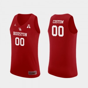 Replica Red College Custom Jersey Basketball For Men's #00 UH Cougars