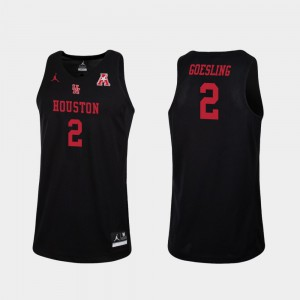 Basketball #2 Replica For Men's Landon Goesling College Jersey Black UH Cougars