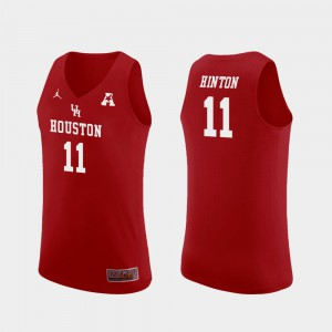 Nate Hinton College Jersey Red Basketball Replica #11 Men's UH Cougars