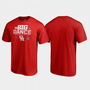 Men March Madness 2019 NCAA Basketball Tournament Red Big Dance Houston Cougars College T-Shirt