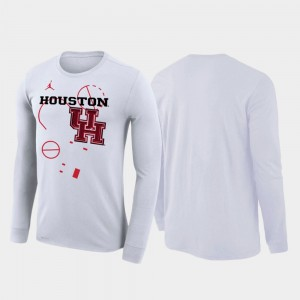 College T-Shirt White For Men 2020 March Madness Houston Cougars Our Time Bench Legend