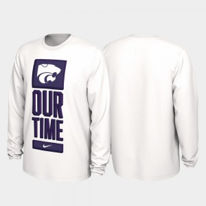 Men's Our Time Bench Legend 2020 March Madness White KSU College T-Shirt