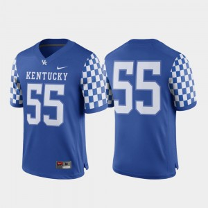 College Jersey #55 For Men Royal UK Game Football