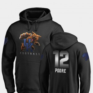 For Men #12 Chance Poore College Hoodie Black Football UK Midnight Mascot