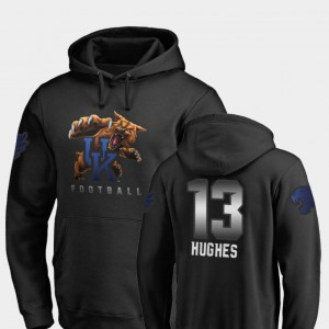 #13 Football Wildcats Zy'Aire Hughes College Hoodie Black Midnight Mascot Men
