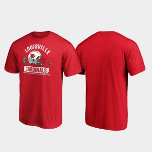 2019 Music City Bowl Bound Louisville Red Spike College T-Shirt For Men's