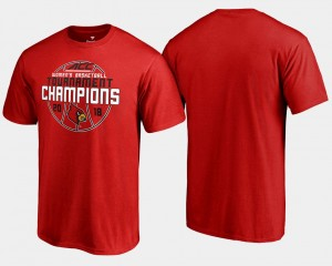 2018 ACC Champions College T-Shirt U of L Red Basketball Conference Tournament For Men's