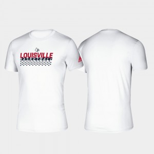 Men College T-Shirt Basketball Salute to Service University Of Louisville Climalite White