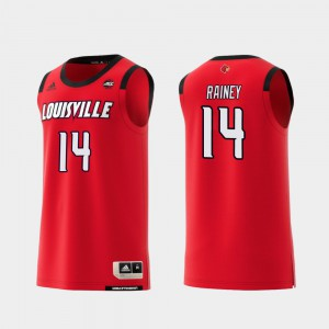 Basketball Will Rainey College Jersey Red For Men Cardinal #14 Replica