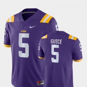Purple For Men Louisiana State Tigers Game #5 Football Derrius Guice College Jersey