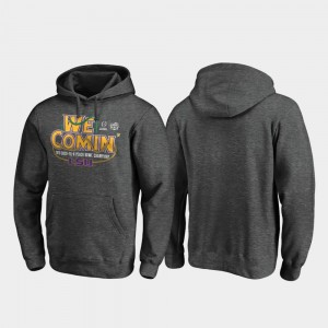 Mens Tigers 2019 Peach Bowl Champions Football Playoff Receiver College Hoodie Heather Gray