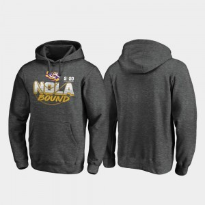 College Hoodie 2020 National Championship Bound Louisiana State Tigers For Men's Heather Gray Football Playoff Defensive
