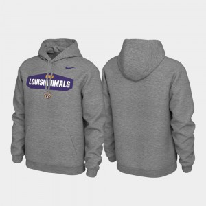 Men's Heathered Gray LSU College Hoodie Local Phrase Pullover
