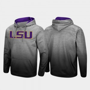 Men Heathered Gray Sitwell Sublimated College Hoodie Pullover LSU Tigers