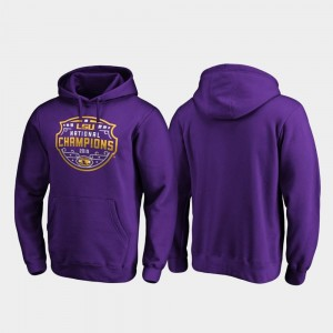 2019 National Champions Men Football Playoff Encroachment College Hoodie LSU Tigers Purple