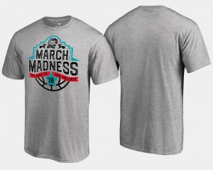 Men College T-Shirt Basketball Tournament Final Four Tipoff March Madness Gray