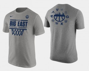 2018 Big East All Team Men Heather Gray Basketball Conference Tournament March Madness College T-Shirt