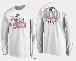 March Madness For Men Basketball Tournament White 68-Team Ball Long Sleeve College T-Shirt