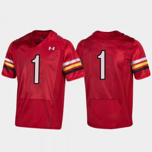 #1 Red 150th Anniversary University of Maryland For Men's College Jersey Football Replica