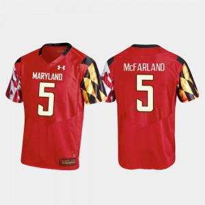 #5 Maryland For Men's Red Anthony McFarland College Jersey Football Replica