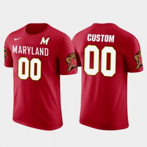University of Maryland Future Stars #00 College Customized T-Shirt For Men's Cotton Football Red
