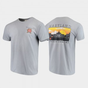 Maryland College T-Shirt Gray For Men's Campus Scenery Comfort Colors