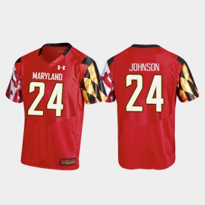 #24 Maryland Terrapins Men's Replica Red Ty Johnson College Jersey Football
