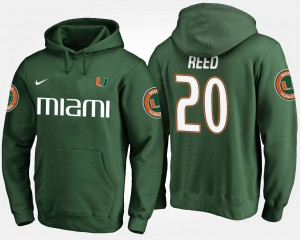 Ed Reed College Hoodie Green UM For Men #20