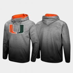 College Hoodie University of Miami Heathered Gray Sitwell Sublimated Pullover For Men's