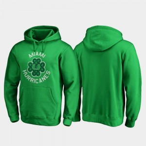 University of Miami St. Patrick's Day Kelly Green College Hoodie For Men Luck Tradition