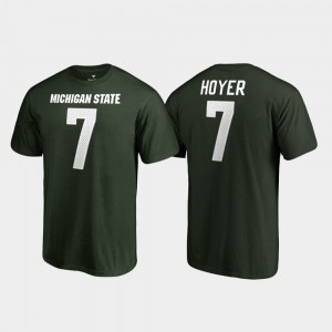 For Men's Legends Brian Hoyer College T-Shirt Name & Number Michigan State University Green #7
