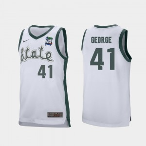 Conner George College Jersey Spartans White 2019 Final-Four Retro Performance Men's #41