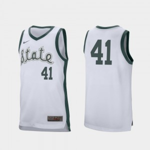 Basketball Conner George College Jersey Spartans Retro Performance #41 Men's White