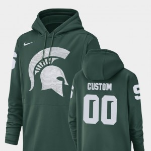 Champ Drive Men Spartans College Customized Hoodies Green #00 Football Performance