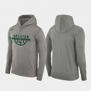 College Hoodie Michigan State University Pullover Gray Basketball Drop Circuit For Men's