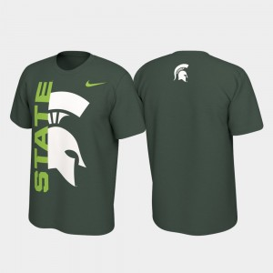 Spartans College T-Shirt For Men's Alternate Jersey Performance Green