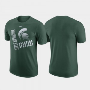 Performance Cotton Green Just Do It For Men College T-Shirt Michigan State Spartans