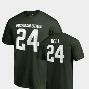 Men #24 Legends Name & Number Green Le'Veon Bell College T-Shirt Michigan State University