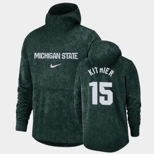 Pullover Team Logo #15 Michigan State Spartans For Men's Thomas Kithier College Hoodie Green Basketball Spotlight