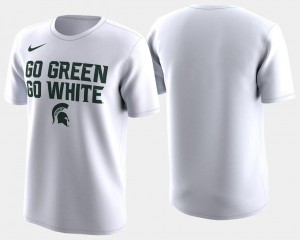 Basketball Tournament Spartans White 2018 March Madness Bench Legend Performance College T-Shirt For Men