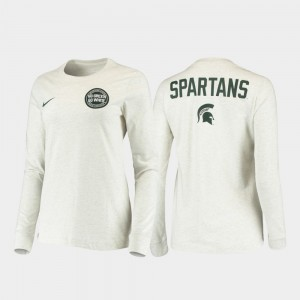 Statement Long Sleeve Rivalry Men College T-Shirt White Michigan State Spartans