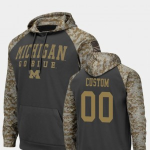 University of Michigan United We Stand Charcoal College Customized Hoodies #00 Colosseum Football Men